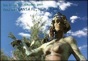 statues in Santa Fe